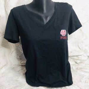 VS pink UMass short sleeve Tee Size small navy